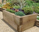 Forest Garden Sleepers Raised Bed - 400mm x 1.3m