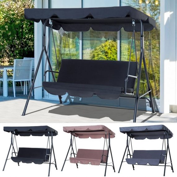 Backyard 3-Seater Adjustable Canopy Patio 2 Colours Outdoor