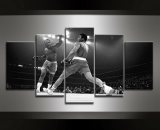 Mohamed ali boxing boxer  5 Piece Canvas Wall Art Painting Print Home Decor