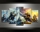 Battle Of Arthas WOW Game  5 Piece Canvas Wall Art Painting Print Home Decor