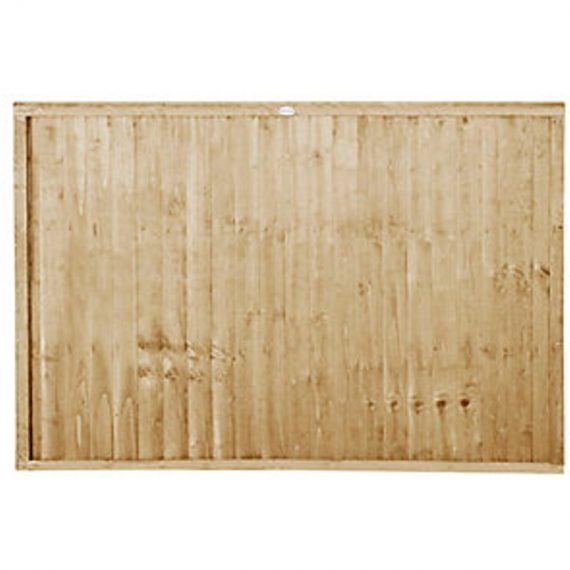 Forest Garden Pressure treated Closeboard Fence Panel - 6x4ft Pack of 5 5013053180495