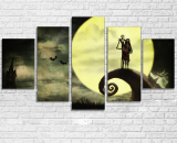 Nightmare Before Christmas  5 Pcs Canvas Wall Art Painting Print Frame Home Deco