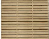 Forest Garden Double Slatted Fence Panel 6 x 5 ft 3 Pack 5013053173022