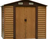 Outsunny Garden Shed, 235.7Lx195.6Wx176.7-208.7H cm, Steel