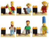 6 pcs Small Simpsons Family figures Homer Marge Bart Lisa Maggie Blocks Fit Lego