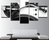5 Panels Vinyl Players Music Canvas Prints Painting Wall Art Pictures Home Décor