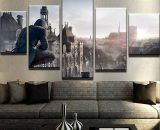 Assassin's Creed City View   5 Piece Canvas Wall Art Painting Print Home Decor