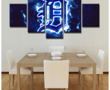 5 Panels Detroit Tigers Painting HD Printed Canvas Wall Art Picture Home Décor