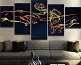 The Creation of Cannabis  5 Piece Canvas Wall Art Painting Print Home Decor