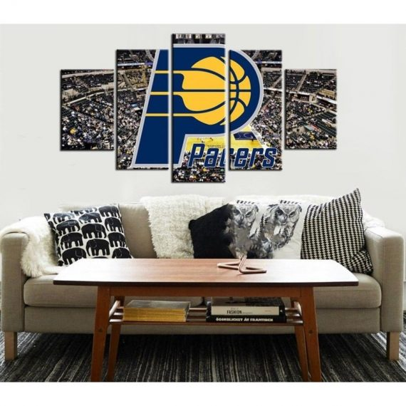 Indiana Pacers Basketball Five Piece Large Framed Canvas Print Home Decor Art