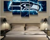 5 Pcs Seattle Seahawks Football Painting Canvas Wall Art Poster Home Decorative