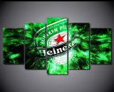 5 Panels Heineken Energy Drink Poster Canvas Printed Painting Wall Home Décor