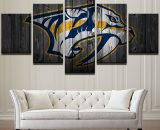 Large Framed Nashville Predator Hockey Canvas Print Wall Art Home 5 Piece