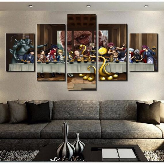 Anime Characters Supper Anime 5 Piece Canvas Art Wall Art Picture Home Decor