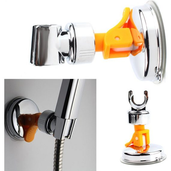 Adjustable Attachable Rotatable Chromed Shower Head Holder with Suction Bracket
