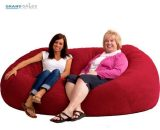 Fuf Bean Bag Chair XXL 7' Comfort Suede Seat Adult Lounge Sofa Seating Furniture  Does Not Apply