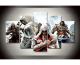5 Pieces Assassin Creed Painting HD Printed Canvas Wall Art Picture Home Décor