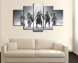 5 Pcs Assassins Creed Group Painting Printed Canvas Wall Art Picture Home Décor