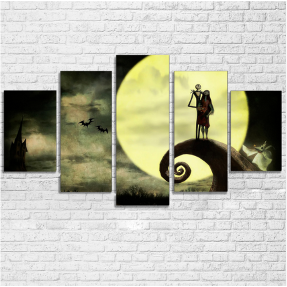 5 Pcs Night Before Christmas Canvas Print Painting Wall Art Picture Home Décor