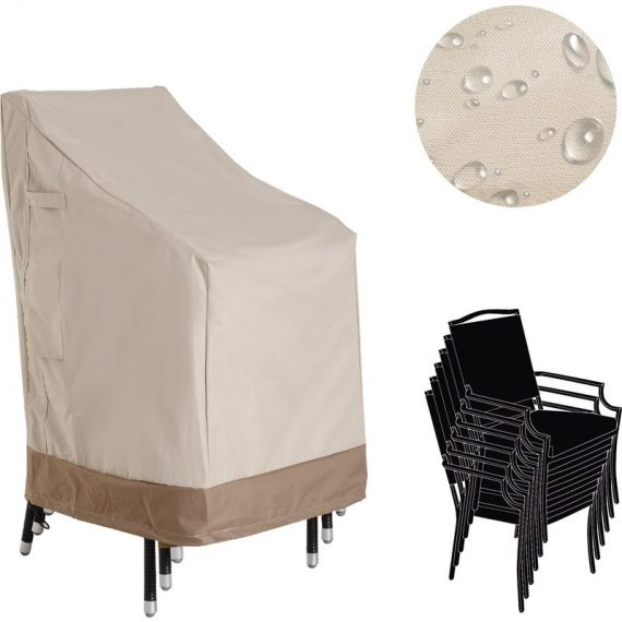 Outsunny Waterproof Garden Wicker Chairs Cover Patio Rattan Seat Protector 600D Oxford Cloth L70*W90*H115cm