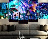Rick And Morty comic prints  5 Piece Canvas Art Wall Art Picture Home Decor